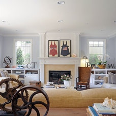 Beach Style Family Room by DTM INTERIORS