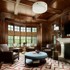 Transitional Family Room by Morgante Wilson Architects
