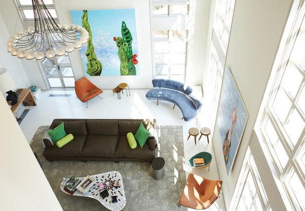 Contemporain Salle de Séjour by D'apostrophe Design, Inc.