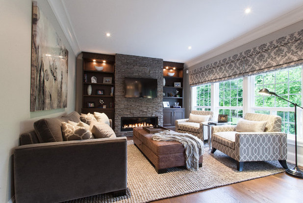 Traditional Family Room by Kenorah Design + Build Ltd. & Get Turned On to a Lighting Plan azcodes.com