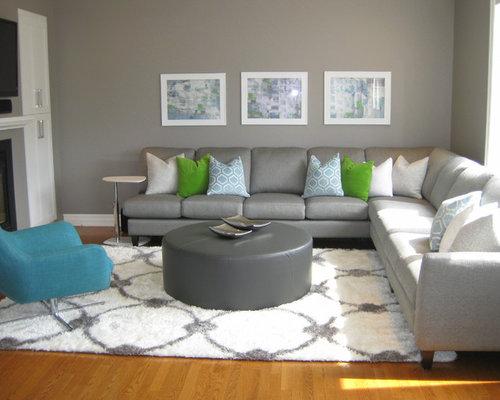 salle de s jour moderne avec un manteau de chemin e en bois photos et id es d co de salles de. Black Bedroom Furniture Sets. Home Design Ideas