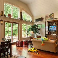 Contemporary Family Room by Bob Lancaster Designs