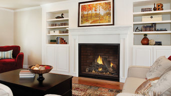 Family Home Living Area with Large Fireplace - American Hearth
