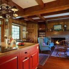 Contemporary Family Room by McSpadden Custom Homes