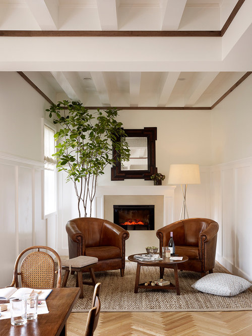Inspiration For A Transitional Medium Tone Wood Floor Family Room Remodel  In San Francisco With Beige Part 9