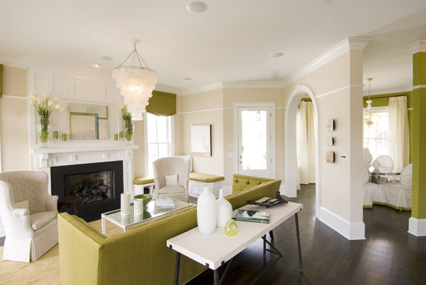Contemporary Family Room by FrontPorch