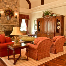 Traditional Family Room by Pam Adams