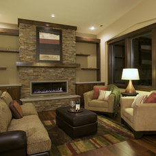 Contemporary Family Room by Six Walls Interior Design