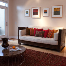 Modern Family Room by Amy Herbert, Aesthetic Answers LLC