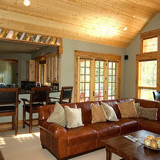 Traditional Family Room by Six Walls Interior Design