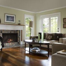 contemporary family room by Margeaux Interiors Inc. - Margaret Presti
