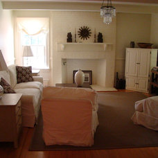 Traditional Family Room by Amy Birdsong