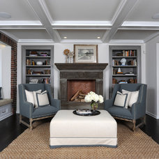 Rustic Family Room by Amy Studebaker Design