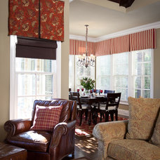 traditional family room by Rachel Oliver Design, LLC