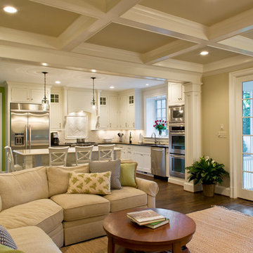 Family room and kitchen