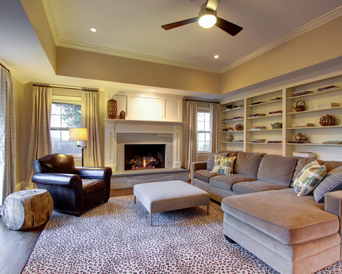 Tray Ceiling Family Room Design Ideas Remodels Amp Photos