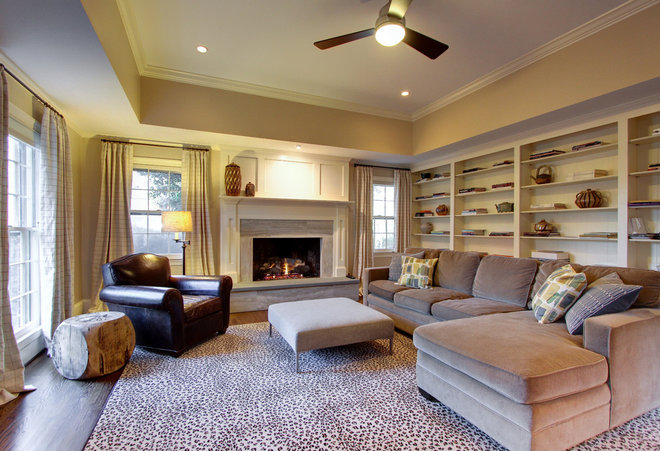 Traditional Family Room by Arbor Construction Group LLC