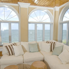 Beach Style Family Room by Pine Street Carpenters & The Kitchen Studio