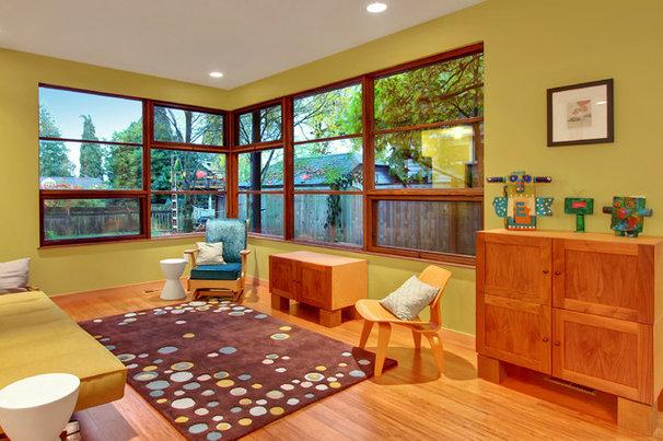 Contemporary Family Room by Bakken Design Build