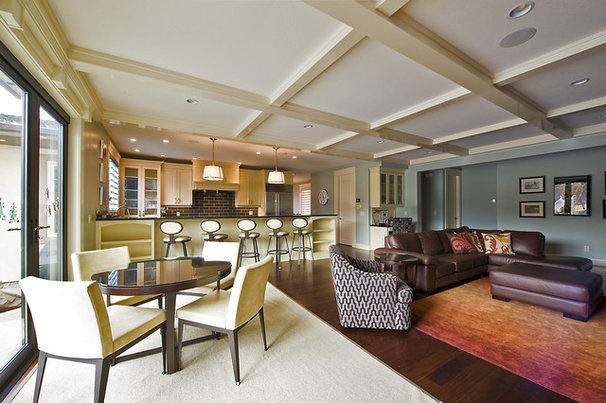 how to combine area rugs in an open floor plan