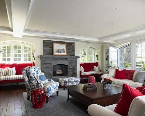 Neutral Palette With Red Accents Home Design Ideas Pictures