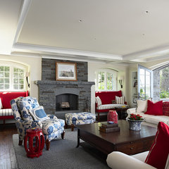 traditional family room by Billy Beson Company