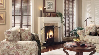 Family Room Blinds with cloth tapes