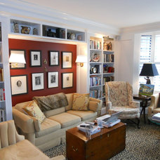 Traditional Family Room by Jonathan R. Diamond Interiors
