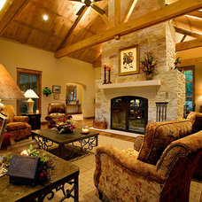 Traditional Family Room by Boyer Custom Homes, Inc.