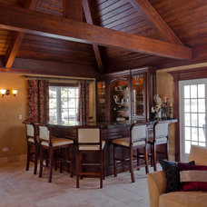 Mediterranean Family Room by Bradford And Kent