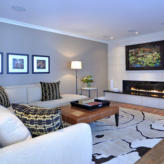 contemporary family room by Bruce Johnson & Associates Interior Design