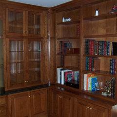 traditional family room by Kent Cabinetry and Millwork Inc