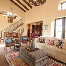 mediterranean family room by Butter Lutz Interiors, LLC
