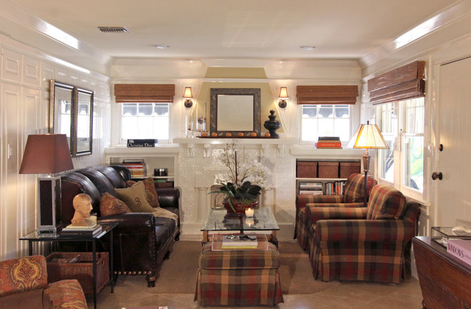Transitional Family Room by Shelley Gardea