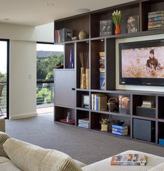 contemporary family room by Camber Construction