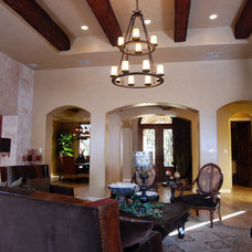 Mediterranean Family Room by Campbell Brown Construction