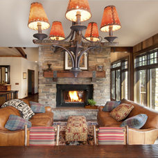 Rustic Family Room by Carl M. Hansen Companies