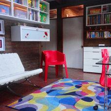 Contemporary Family Room by Carolina Katz + Paula Nuñez