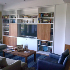 Modern Family Room by Case by Case Cabinets