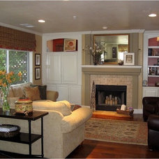 Traditional Family Room by Casey Grace Design, LLC