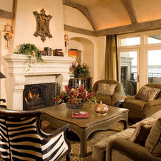 Mediterranean Family Room by Choice Wood Company