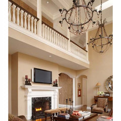 traditional family room by Christian Tennant Custom Homes