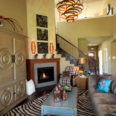 Eclectic Family Room by Cindy Aplanalp-Yates & Chairma Design Group