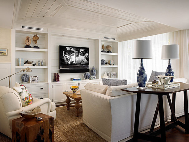 Beach Style Family Room by Cindy Ray Interiors, Inc.