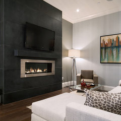 contemporary family room by Clay Construction Inc.