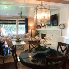 Eclectic Family Room by Possibilities Home Decor and Design