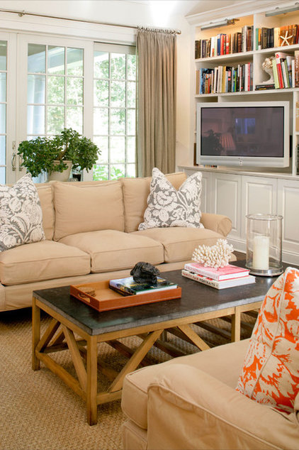 eclectic family room by Design House