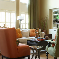 Contemporary Family Room by Design Theory Interiors of California, Inc