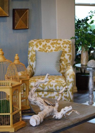 Rustic Family Room by Cristi Holcombe Interiors, LLC