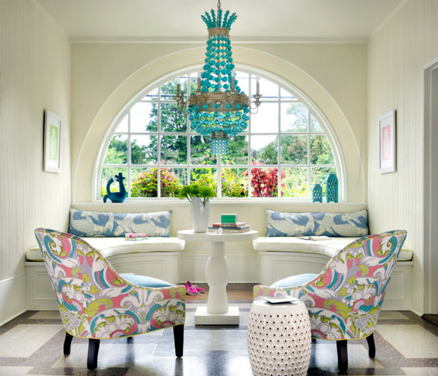 Eclectic Family Room by Digs Design Company